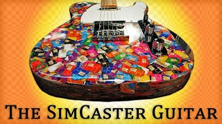 Insane Electric Guitar Build From 13,000 Sim Cards Video