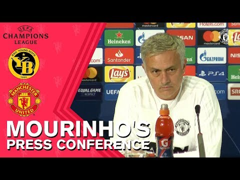 Jose Mourinho Press Conference   BSC Young Boys v Manchester United   UEFA Champions League 2018/19