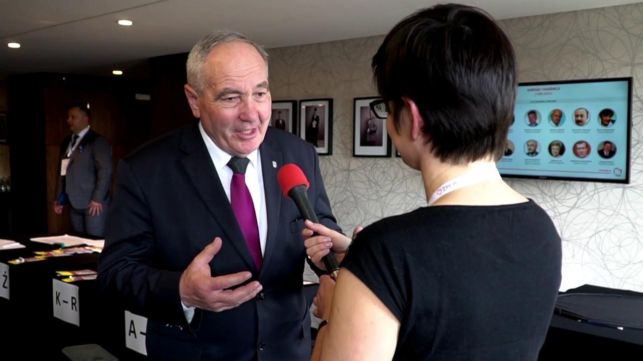 Poseł na Sejm RP, Prezes Zarządu ZPP III kadencji Kazimierz Kotowski podczas XXV ZO ZPP