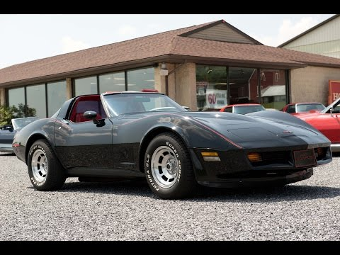 1981 Black Big Block Corvette T Top Video