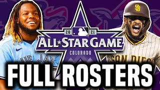 2021 MLB All Star Game Rosters Announced!