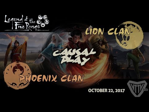 Legend of the Five Rings – Phoenix vs. Lion Gameplay @ 401 Games