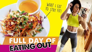 HOW TO EAT HEALTHY AT RESTAURANTS (Full Day Of Eating Out)