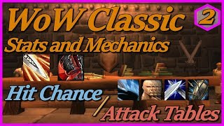 WoW Classic Stats and Mechanics - Part 2: Hit Chance, Weapon Skill, Attack Tables Explained