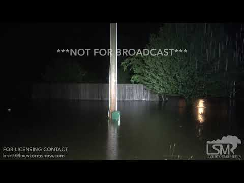 7-16-2019 Nashville, Ar Flash flooding, water rushing down main st, Barry Remnants