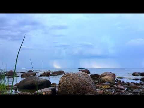 Storm cloud over the Bay. Timelapse. Грозовая туча над заливом. Таймлапс.