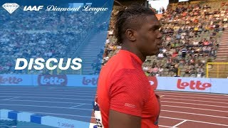 Fedrick Dacres 68.67m - 1st Round Diamond League Brussels 2018
