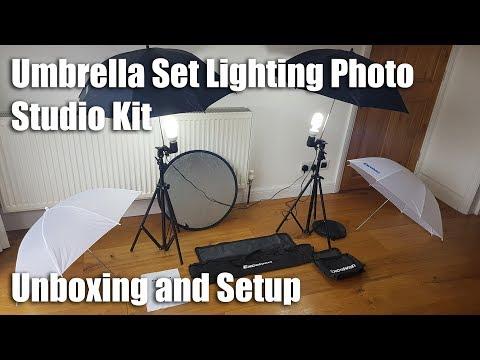 Excelvan Umbrella Set Lighting Photo Studio Kit [Unboxing and Setup]