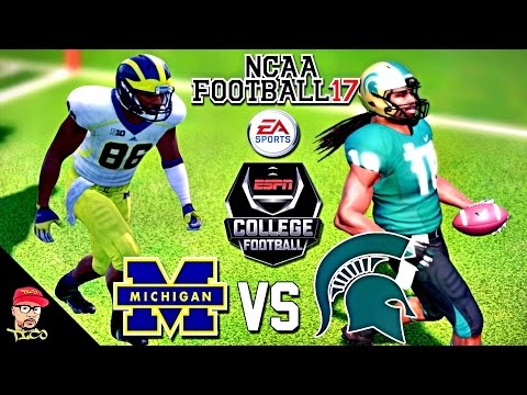 NCAA Football 17 | #2 Michigan vs Michigan State | College Football Kick-Off Gameplay!