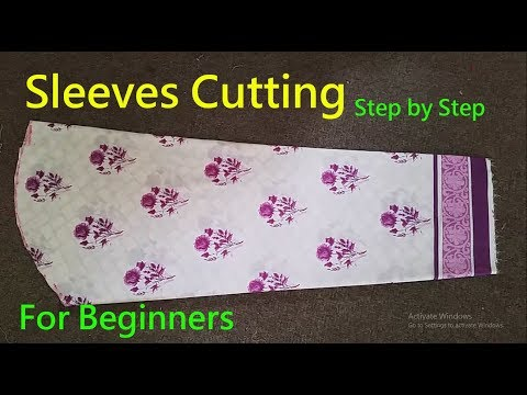 Bazo Ki Cutting| Sleeves cutting|How To Cut Perfect Sleeve|Simple Method| For Beginners|step by step