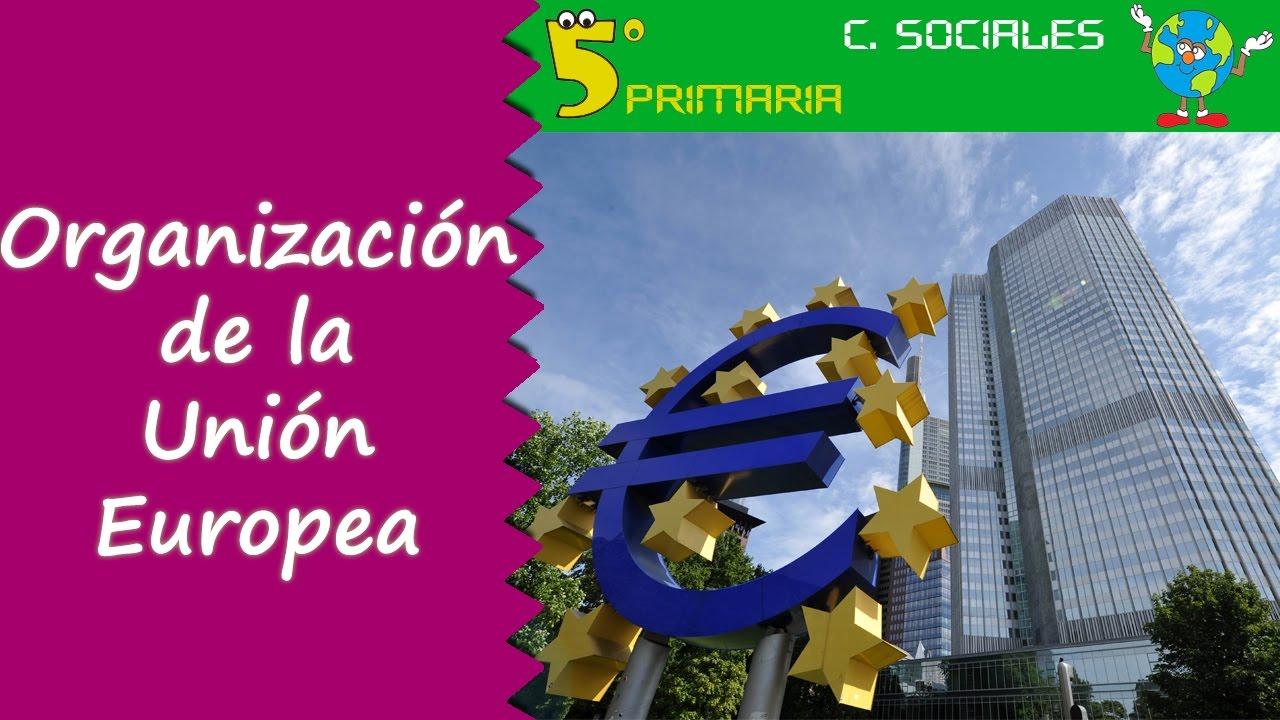 Organización de la Unión Europea. Sociales, 5º Primaria. Tema 5
