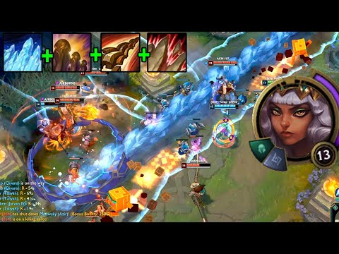 League of Legends but Qiyana's ulti can cover half the map in stuns