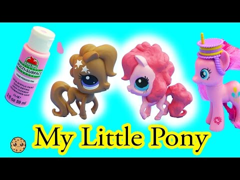 Custom DIY Painting Littlest Pet Shop Into Pinkie Pie My Little Pony Do It Yourself Caft Video