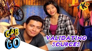 Grade 9 Filipino | Validating Accuracy Of Information Sources | Gab To Go
