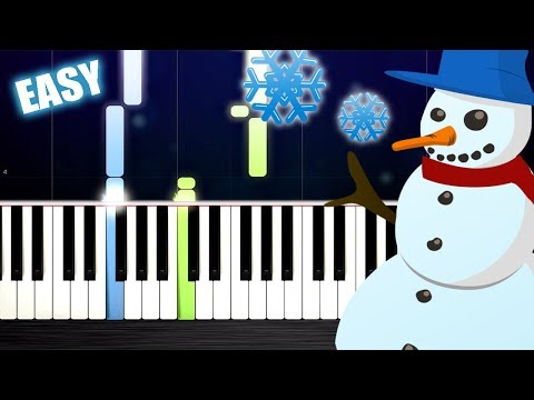 Let It Snow! - EASY Piano Tutorial by PlutaX