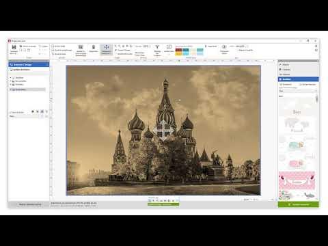Options de réglage des couleurs dans le logiciel Saal Design