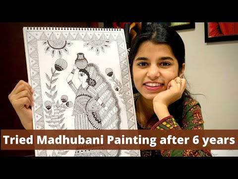 madhubani painting tutorial by maithili