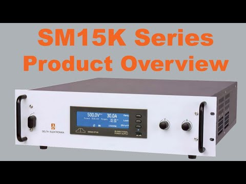 Video of Delta Elektronika's SM15K series regenerative Bi-directional source/sink DC power supplies