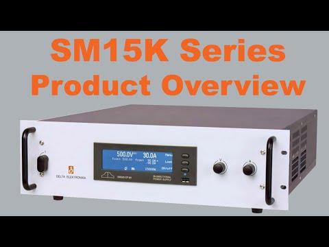 Video of Delta Elektronika's SM15K series regenerative Bi-directional source/sink DC power supplies