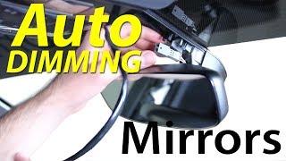 MK7 Auto Dimming Homelink Rear View Mirror DIY