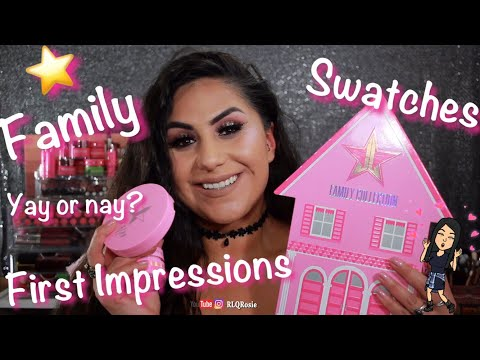 Jeffree Star Cosmetics| Star Family Swatch Comparisons, First Impressions, and Review!