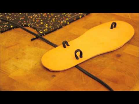 simple shoemaking: How to Make Sandals Part 2