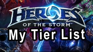(HOTS) My Heroes of the Storm Tier list 17.1 (Rank 1 Hero League) 4/19/2016