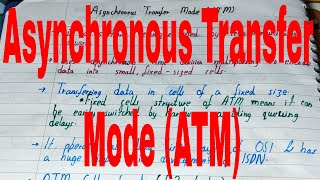 Asynchronous Transfer Mode ATM|What is asynchronous transfer mode|Asynchronous Transmission Mode