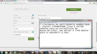 KOBO - SWIFT / Routing number / IBAN -  Como preencher os dados de pagamentos do KOBO