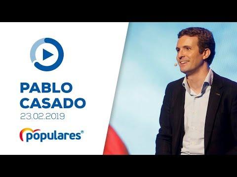"""Pablo Casado clausura el acto del PP """"La gran Granada"""""""