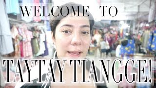 TAYTAY SHOPPING: PAANO PUMUNTA NG TAYTAY TIANGGE? + MURANG CHRISTMAS DECORATIONS!! | Nina Rayos 💋