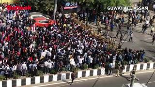 Protesters March Towards Assam Secretariat During A Rally Against CAB In Guwahati