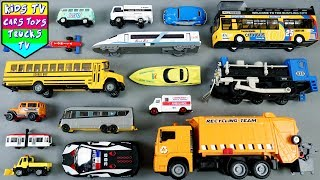 City Vehicles For Children | Cartoon Cars Video