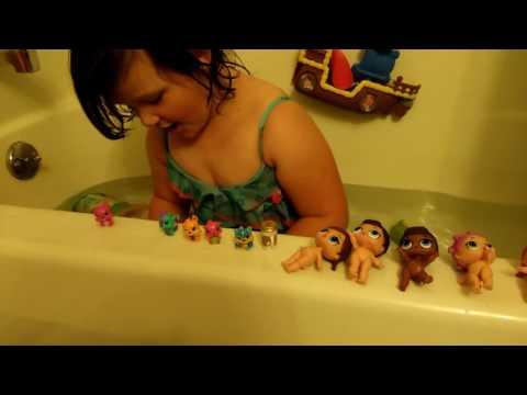 A little girls bath time fun!