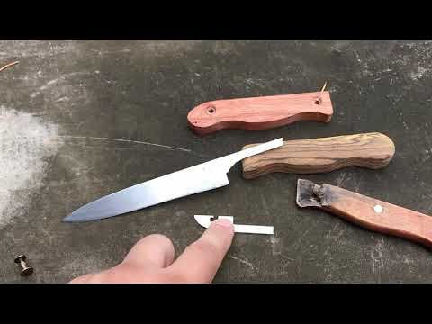 Замена рукояти, ремонт и заточка кухонного ножа
