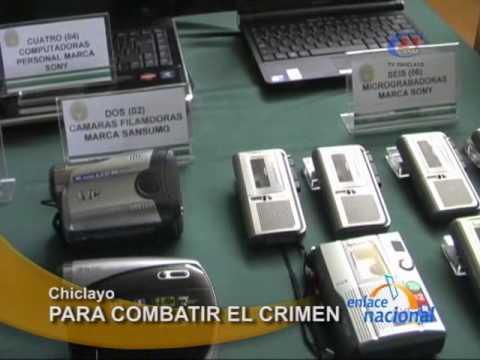Entregan laptops, cámaras, grabadoras, celulares a policía de Chiclayo