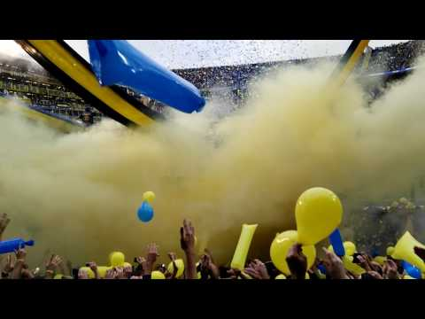 """Espectacular recibimiento de boca vs  riBer 2017 !!!"" Barra: La 12 • Club: Boca Juniors • País: Argentina"