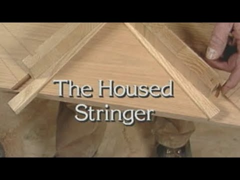 Housed stringer stairs. How to build stairs
