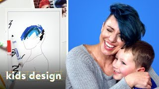 Kids Give Their Mom A Wild New Hairstyle | Kids Design | HiHo Kids