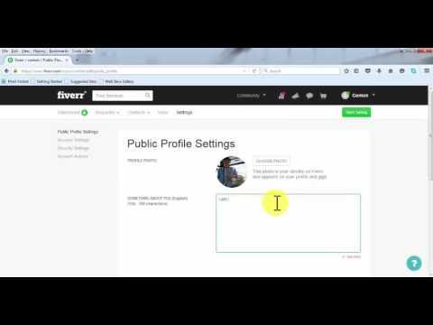 Video Membuat Profil Fiverr Yang Menjual