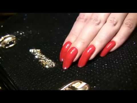 Red scratching mix with beautiful long fingernails by kreolla ( КРАСНЫЕ ДЛИННЫЕ НОГТИ )