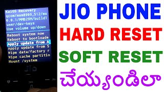 HOW TO HARD RESET JIO PHONE IN TELUGU F2403N