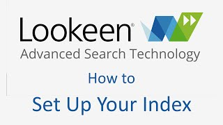 How to Set Up & Expand Your Search Index | Lookeen
