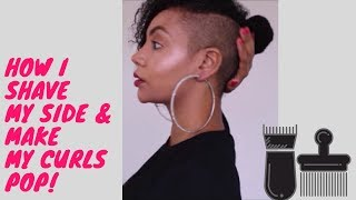 Shaved Sides & Curly Hair Routine