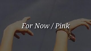 Pink - For Now (Lyrics)