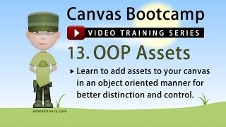 JavaScript Object Oriented Assets OOP on Canvas