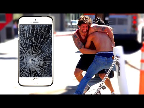 BREAKING STRANGER'S PHONES PRANK