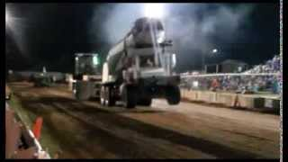 Concrete Truck Pulling in Platteville, WI Dairy Days 2013