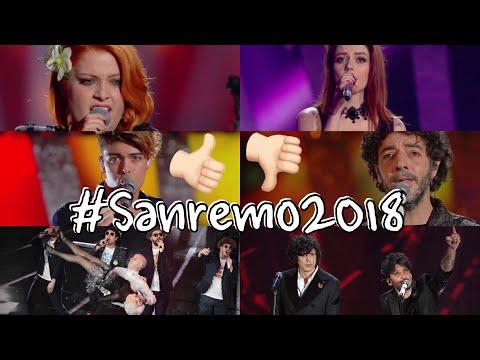 SANREMO 2018 - I MIEI VOTI E COMMENTI DI TUTTE LE CANZONI IN GARA