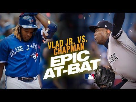 Vlad Guerrero Jr. and Aroldis Chapman show down for epic 13-pitch at-bat